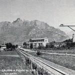 Vista della ferrovia e della nuova chiesa