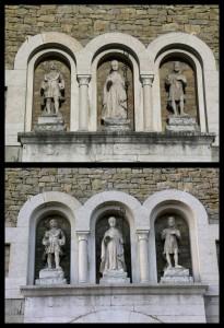Statue portale - Prima & dopo