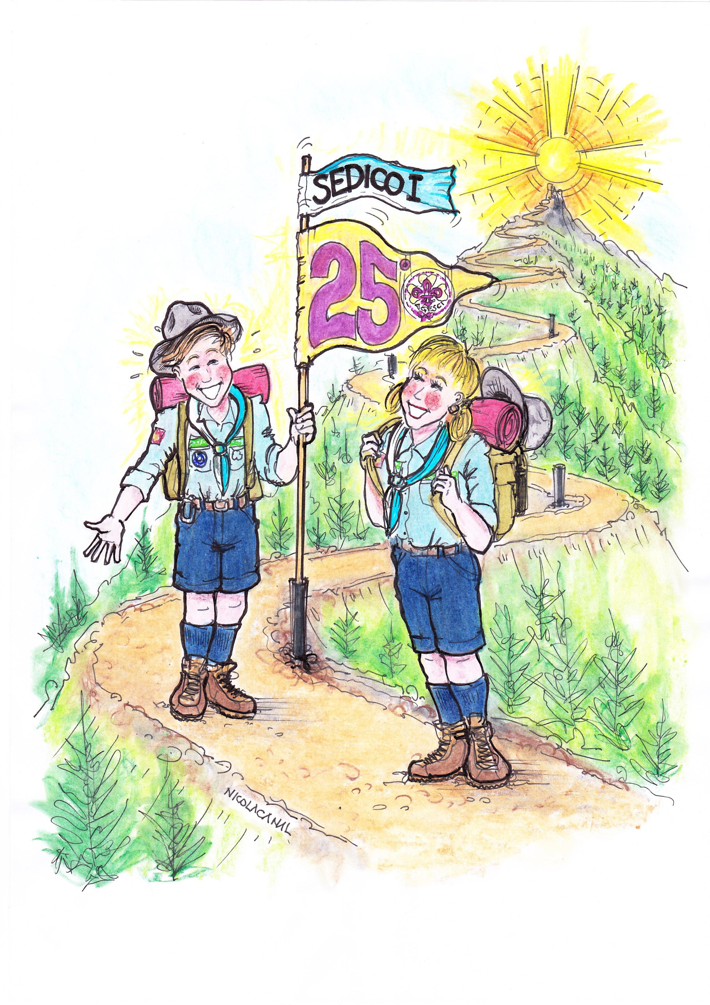 Vignetta celebrativa di Nicola Canal
