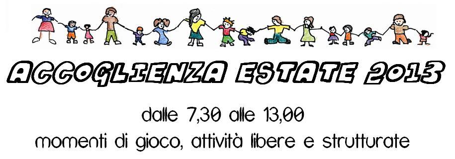 Testata Accoglenza estate 2013
